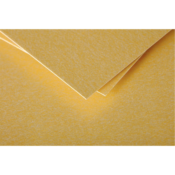Paquet de 25 cartes Pollen Clairefontaine format 110x 155mm 210g or.
